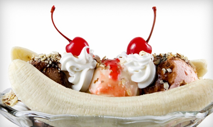 Lickadee Splits - Owings Mills: $12 for Sandwiches, Fries, Drinks, and Specialty Sundaes for Two at Lickadee Splits in Owings Mills ($25.40 Value)