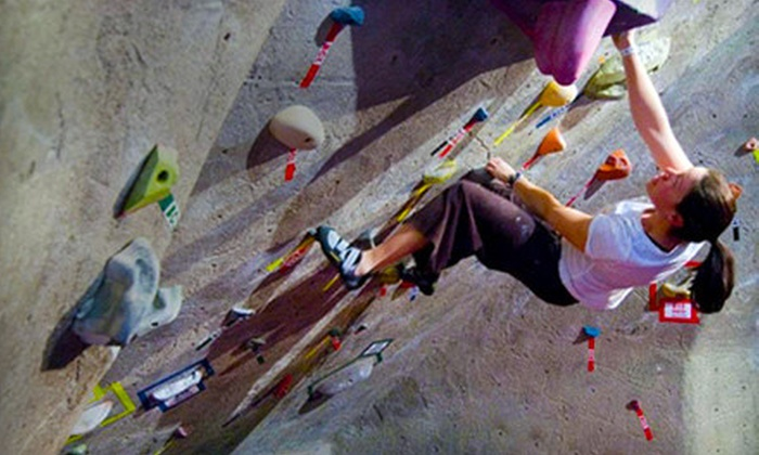 The Rock Club - New Rochelle: Intro to Rock Climbing Class Packages at The Rock Club in New Rochelle (Up to 82% Off). Three Options Available.