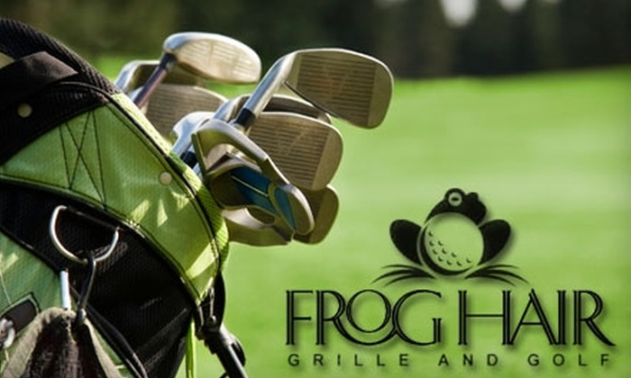 Frog Hair Grille and Golf - Amherst: $45 for Two Hours of Indoor Golfing, Two Entrees, Two Drinks, and an Appetizer at Frog Hair Grille and Golf (Up to $126.35 Value)