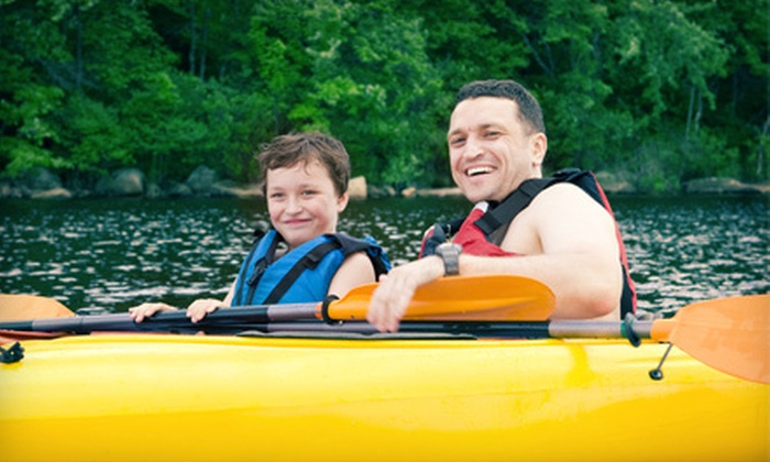 Live Adventure - Cedar Hill State Park: Single or Double Kayak for a Two-Hour or Day Rental from Live Adventure (Half Off)
