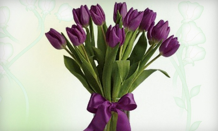 PETRA Flowers - East Lansing: Half Dozen Roses or a 10-Tulip Bouquet in Vase at Petra Flowers (Up to 60% Off)