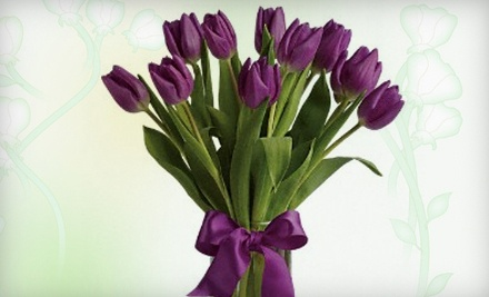 10-Tulip Bouquet in a Vase (a $47.99 value) - PETRA Flowers in East Lansing