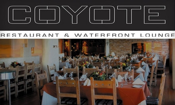 Coyote Restaurant & <br>Waterfront Lounge - Barnum Island: $15 for $35 Worth of Small Plates and Drinks at Coyote Restaurant & Waterfront Lounge