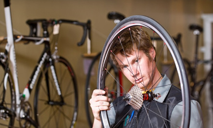 OC Bicycle Service & Garage - Laguna Hills: $25 for a Bike Tune-Up and Free Patch Kit or Water Bottle at OC Bicycle Service & Garage in Laguna Hills ($55 Value)