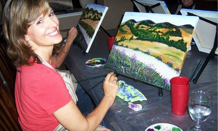 Creative Juices Events - Cresthaven: $22 for a Three-Hour Painting Session from Creative Juices Events ($45 Value)