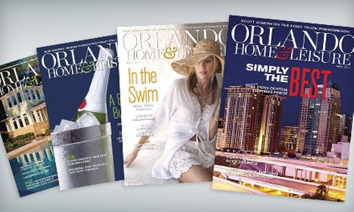 """Orlando Home and Leisure - Sanford: One- or Two-Year Subscription to """"Orlando Home & Leisure"""" Magazine"""