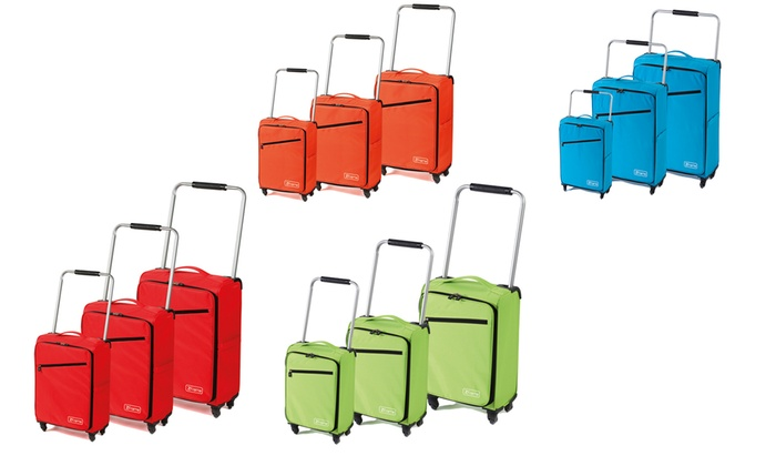 Z Frame Lightweight Luggage Set | Groupon Goods