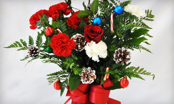 The Dancing Dandelion - Spring Valley: $49 for a Holiday Flower Arrangement from The Dancing Dandelion