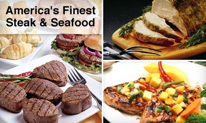 America's Finest Steak and Seafood - Kansas City: $149 for Your Choice of a Premium Steak, Chicken, Pork, or Seafood Package from America's Finest Steak and Seafood (Up to $399 Value)