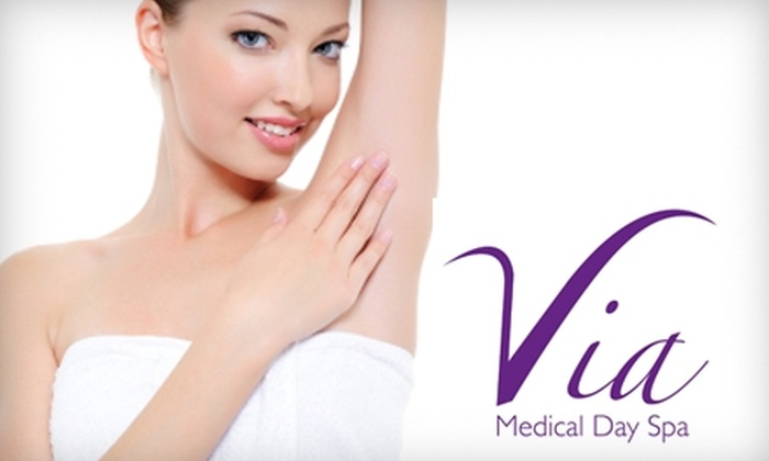 Via Medical Day Spa - Wilmington: $75 for Your Choice of Medical-Grade Facial Peel ($150 Value) or $40 for Alpha-Vital Facial ($80 Value) at Via Medical Day Spa