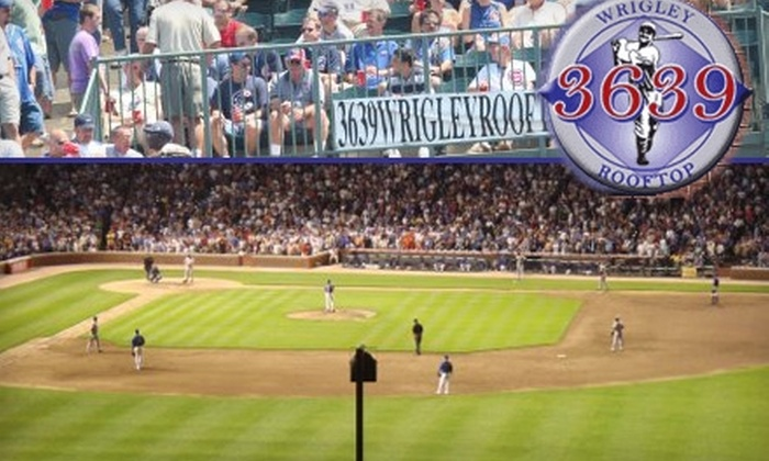 3639 Wrigley Rooftop - Lakeview: $74 for One 3639 Wrigley Rooftop Ticket Including All You Can Eat & Drink. Buy Here for Chicago Cubs vs. Washington Nationals on Wednesday, April 28, at 1:20 p.m. ($137.50 Value). Click Below for Other Game Options.
