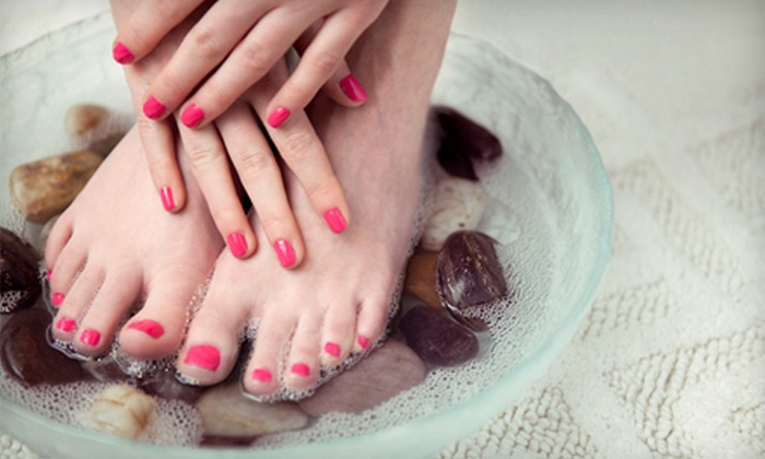 Sassi Nails Salon - Northfield: Shellac Manicure, Hot-Stone Pedicure, or Basic Mani-Pedi at Sassi Nails Salon (Up to 52% Off)