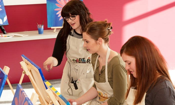 Arts & Carafes Studio - Arts & Carafes Studio: Social Painting Session for One, Two, or Four from Arts & Carafes Studio (Up to 31% Off)