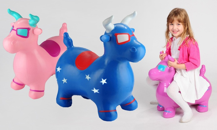 Benny the Jumping Bull : $25 for a Benny the Jumping Bull Toy ($44.99 List Price). Seven Colors Available. Free Shipping and Free Returns.