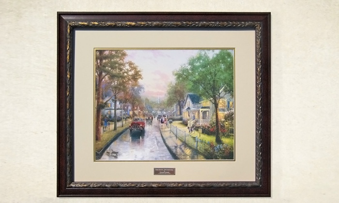 "30""x26"" Framed Thomas Kinkade 50th Anniversary Print: $99.99 for a 30""x26"" Thomas Kinkade 50th Anniversary Edition Framed Print ($320 List Price). Free Shipping and Returns."
