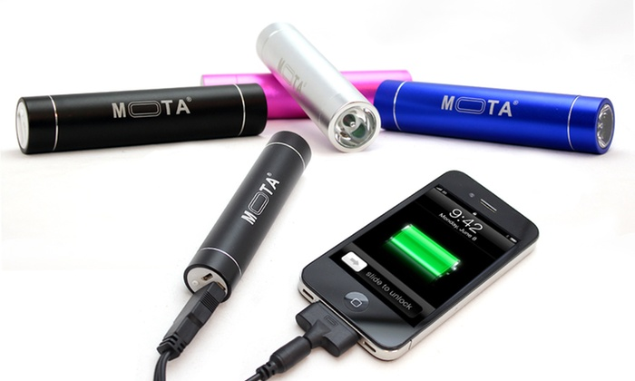 Mota Smartphone Battery Stick: $19.99 for a Mota 2600 mAh Smartphone Battery Stick ($80 List Price). Four Colors Available. Free Shipping and Returns.