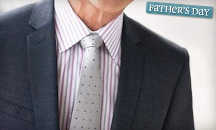 Custom Men - New York City: $75 for a Custom-Tailored Men's Shirt at Custom Men ($150 Value)