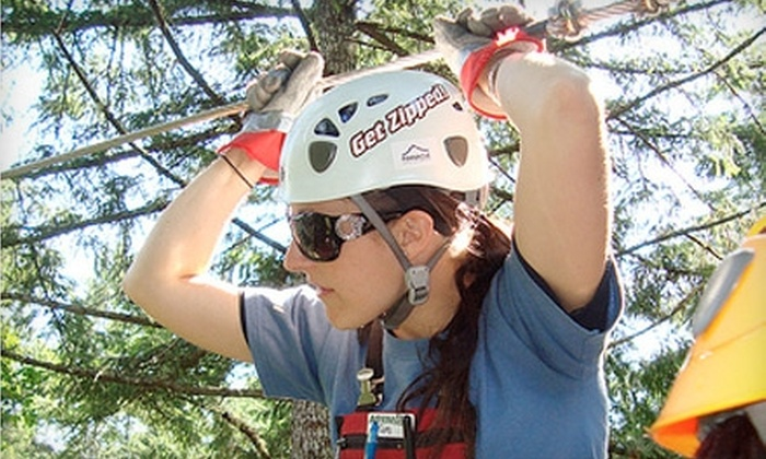 Adrena Line Zipline Adventure Tours - Sooke: $55 for a Club Zip! Membership at Adrena Line Zipline Adventure Tours ($110.88 Value)