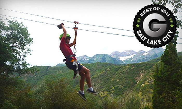 Max Zipline - American Fork-Pleasant Grove: Full Zip-Line Canopy Tour for One or Two at Max Zipline in Provo Canyon (Up to 59% Off)
