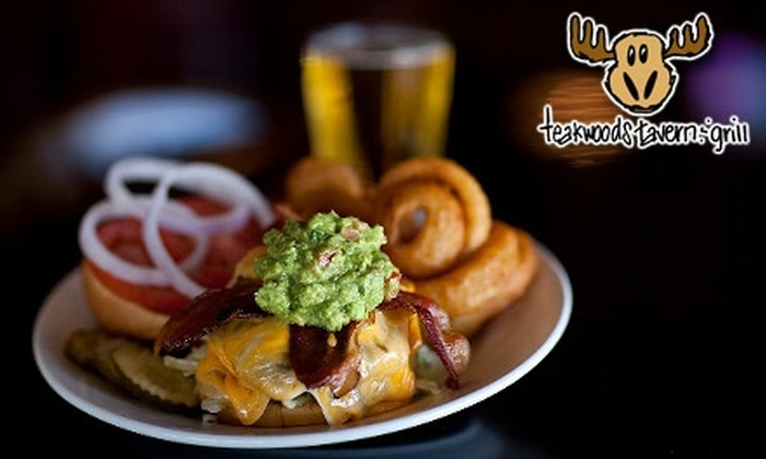Teakwoods Tavern & Grill - Multiple Locations: $10 for $20 Worth of Pub Fare and Drinks at Teakwoods Tavern & Grill