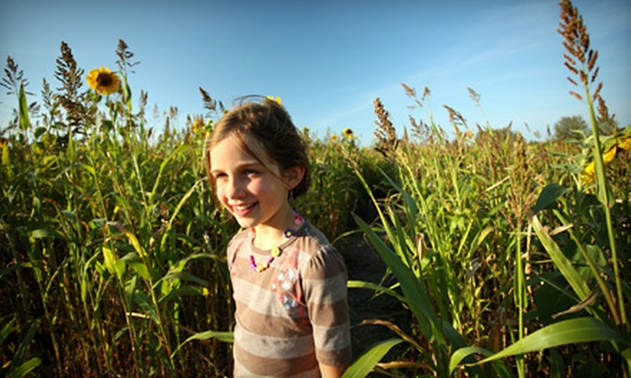 McNab's Corn Maze - Nanaimo: Adult Tickets or Family Passes to McNab's Corn Maze in Nanaimo. Three Options Available.