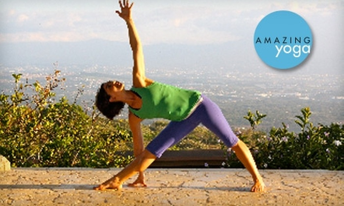 Amazing Yoga - Multiple Locations: $60 for 30 Days of Unlimited Yoga at Amazing Yoga ($125 Value)