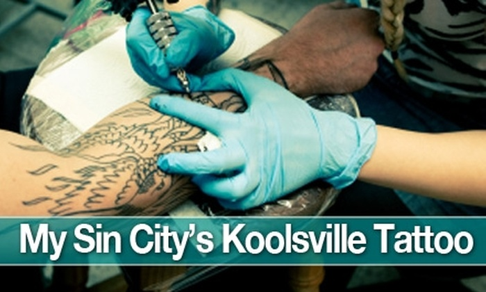 Sin City Ink - Multiple Locations: $10 for $20 Worth of Tattoos, Piercings, Jewelry, and Aftercare at My Sin City's Koolsville Tattoo