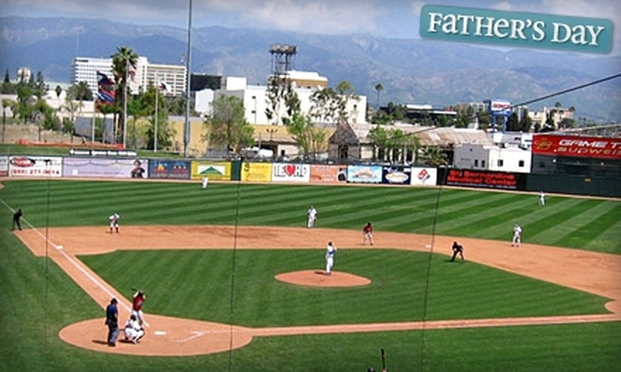 Inland Empire 66ers - Downtown San Bernardino: $50 for 10 Club-Box Tickets to Inland Empire 66ers Baseball ($110 Value)