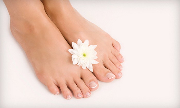ViVi Salon & Spa - Kalihi - Palama: Deluxe Pedicure or Full Set of Pink and White Nails at ViVi Salon & Spa (51% Off)