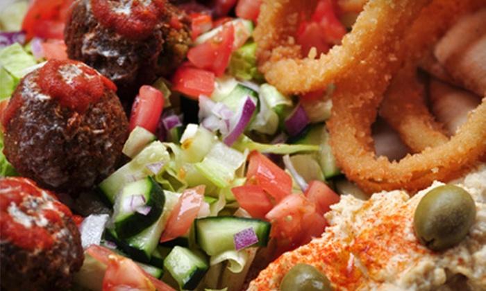 The Kebab Shack - Downtown San Jose: Mediterranean Fare or Hookah for Three at The Kebab Shack