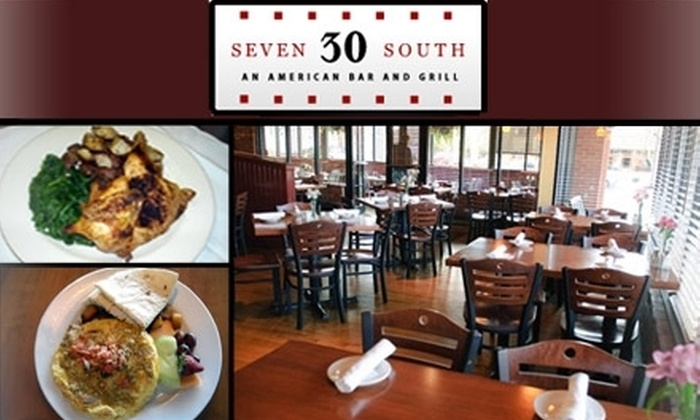 Seven 30 South - Belcaro: $20 for $40 of American Grub and Guzzle at Seven 30 South