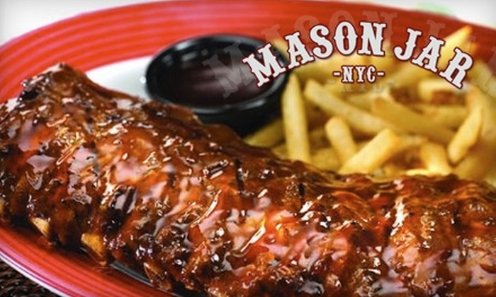 Mason Jar - Midtown South Central: $15 for $30 Worth of Comfort Cuisine and Drinks at Mason Jar