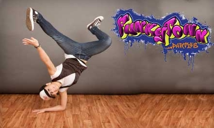 FunkyTown Parties - Providence Crossing: $10 for Three Dance or Fitness Classes at FunkyTown Parties ($45 Value)