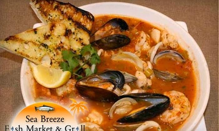 Sea Breeze Fish Market & Grill - Dallas: $12 for $25 Worth of Seafood at Sea Breeze Fish Market & Grill in Plano