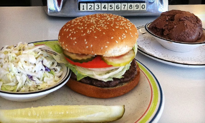 Cafe 50's - Sherman Oaks: Burgers and Ice Cream for Two or Four or $18 Worth of Fare at Cafe 50's in Sherman Oaks