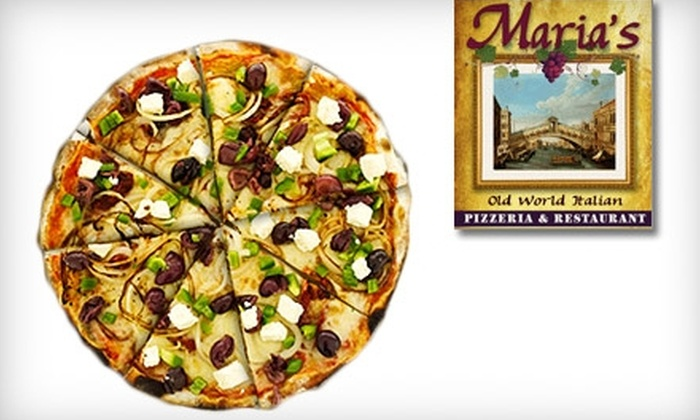 Maria's Pizzeria & Restaurant - Caloosahatchee: $15 for $30 Worth of Pizza and Drinks at Maria's Pizzeria & Restaurant