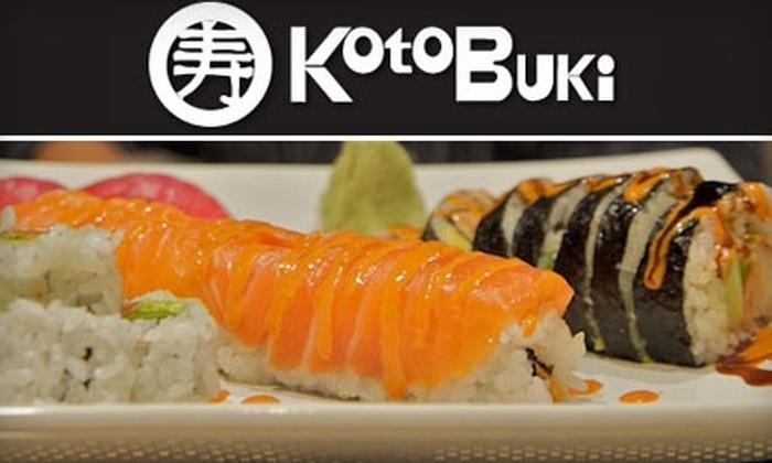 Koto Buki - Sylvania: $12 for $25 Worth of Japanese Cuisine at Koto Buki