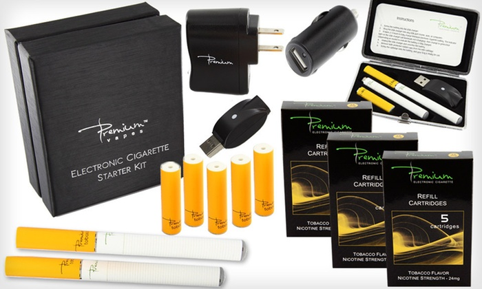 Premium e-Cigarette Deluxe Kit: $25 for a Tobacco or Menthol eCig Kit from Premium eCig ($174.83 List Price). Free Shipping.