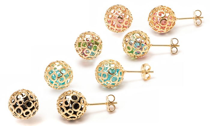 earrings with swarovski elements groupon goods