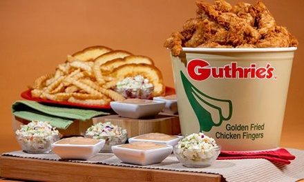 $12 for Two Groupons, Each Good for $10 Worth of Chicken at Guthrie's Chicken Fingers