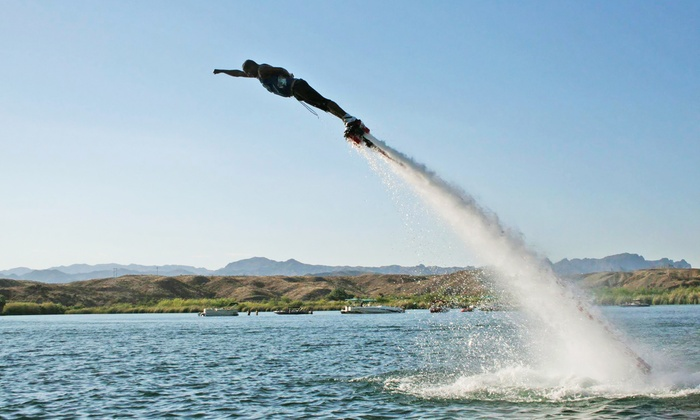 Aquaflyboarding USA - Bluewater Resort and Casino: 30-Minute Flyboard Flight for One or Two at Aquaflyboarding USA (Up to 55% Off)