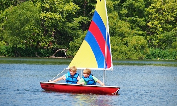 Austin Sailboat Rentals - The public launch area located directly behind the Holiday Inn on Lady Bird Lake: $49 for a Four-Hour Sailboat Rental from Austin Sailboat Rentals ($100 Value)
