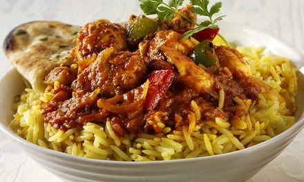 $10 for Takeaway Curry with Rice and Naan from One MB Up to $25.50 Value