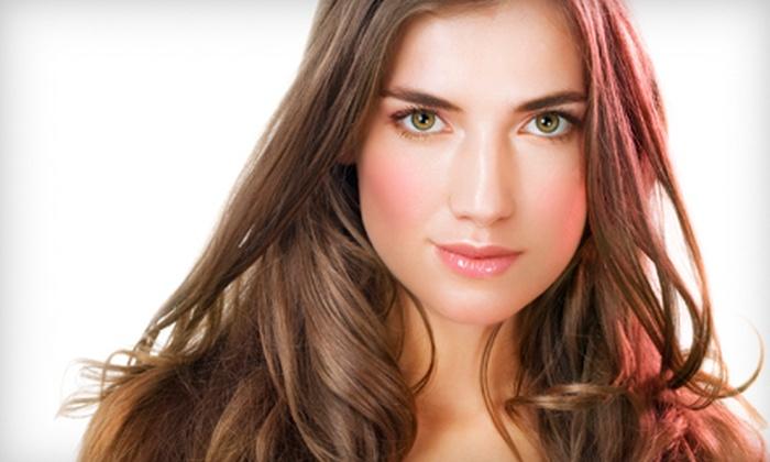 Salon Blue - Alva: Facial Waxing or Haircut and Conditioning Treatment at Salon Blue