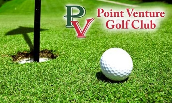 Point Venture Golf Club - Point Venture: $28 for 18 Holes and Cart for Two People Plus One Large Bucket of Balls at Point Venture Golf Club (Up to $64 Value)