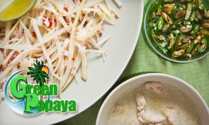 Green Papaya - Caughlin Ranch: $10 for $20 Worth of Authentic Thai Cuisine at Green Papaya