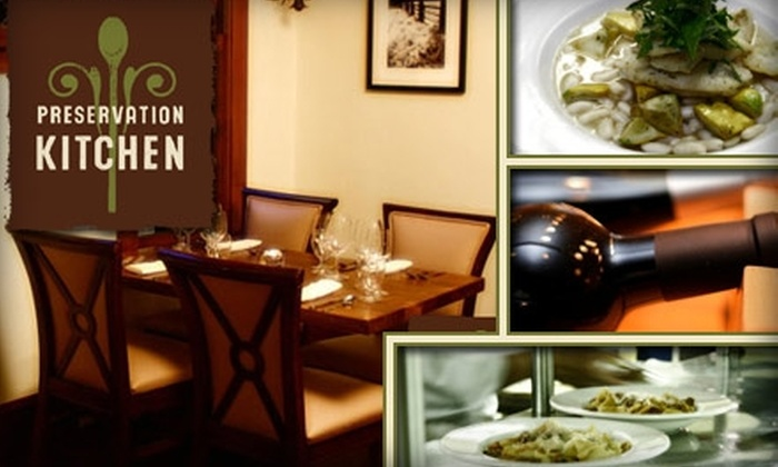 Preservation Kitchen - Downtown - Riverfront - 190th: $15 for $35 Worth of Pacific Northwest Cuisine at Preservation Kitchen