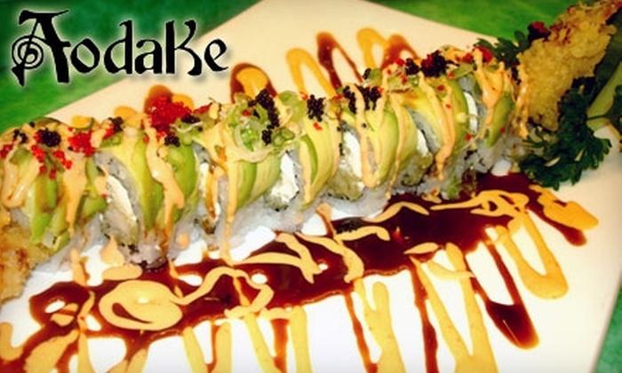 Aodake Sushi & Steak House - Multiple Locations: $15 for $30 Worth of Japanese Fare at Aodake Sushi & Steak House