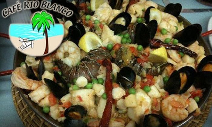 Café Rio Blanco - Augusta: $15 for $30 Worth of Authentic Cuban Fare at Café Rio Blanco