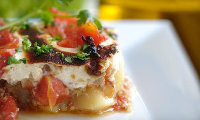Santorini Grill - Williamsburg: $20 for $40 Worth of Greek and Mediterranean Fare at Santorini Grill in Brooklyn